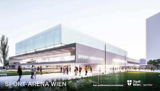 So soll die neue Sport Arena Wien aussehen.