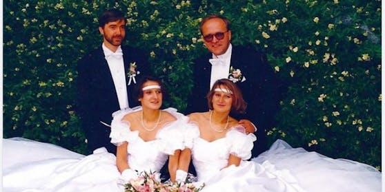 Johanna Mikl-Leitner (mutmaßlich rechts) mit Ehemann Andreas und Schwester Nelly