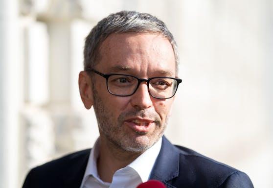 Abstimmung über Hofer-Nachfolger: Klubobmann Herbert Kickl am 7. Juni 2021 im Rahmen des FPÖ-Präsidiums in Wien.