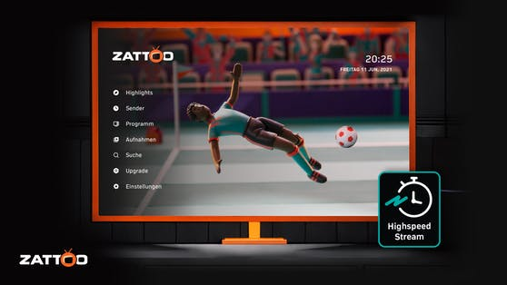 EM-Tore in Hochgeschwindigkeit: Zattoo reduziert zeitliche Verzögerung deutlich.
