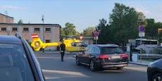 Video! Helikopter landet wegen Frau vor Strandbad Baden