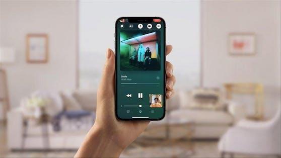 Mit der Facetime-Funktion Shareplay kann der der Bildschirminhalt künftig mit anderen geteilt werden.