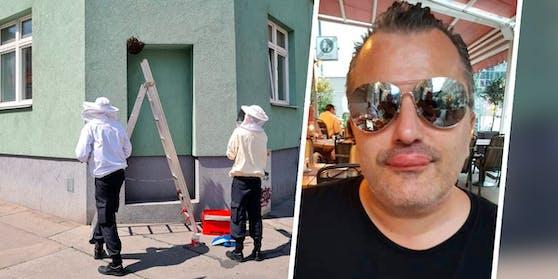 """""""Lippe wie Schiller"""": Laufhaus-Manager Laskaris wurde von Bienen attackiert."""
