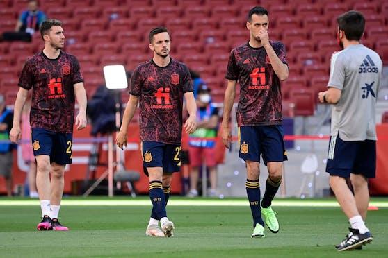 Nach der Corona-Infektion von Sergio Busquets werden die spanischen Spieler geimpft.
