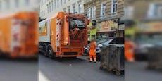 Dutzende Ratten flüchten aus Müllwagen in Wien