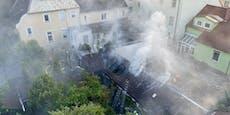 Großeinsatz bei Brand von Gartenhütte in Wr. Neustadt