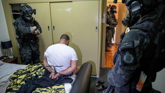Festnahme der australischen Polizei.