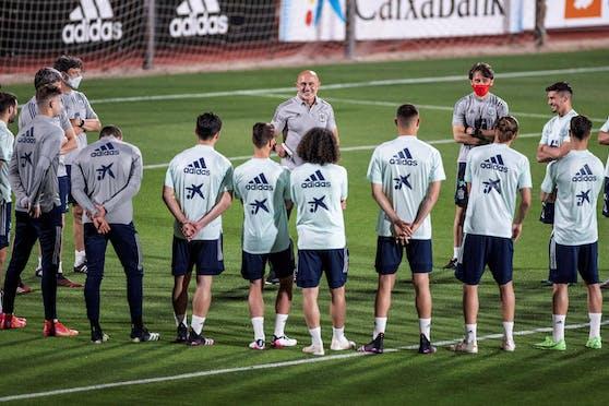 Die spanische U21-Elf läuft am Dienstag gegen Litauen auf.