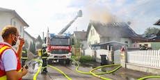 Wohnhaus ging wegen Kompressor in Flammen auf