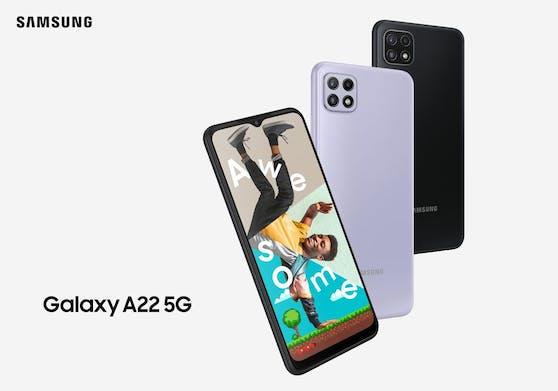 Das Galaxy A22 5G ist ab 229 Euro ab Juli im österreichischen Handel erhältlich.