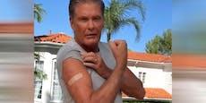 """David Hasselhoff: """"Meine Freiheit war die Impfung"""""""