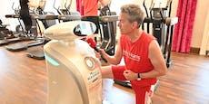 Weltneuheit: Roboter hält Wiener Fitnesscenter sauber
