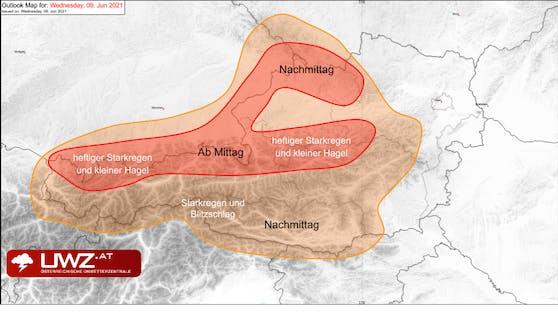 Übersicht über die betroffenen Gebiete