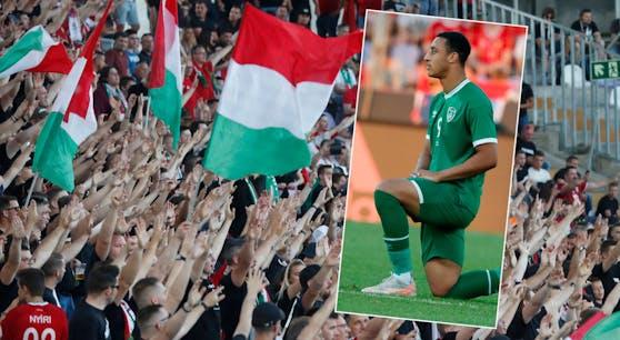 Ungarn-Fans pfeifen die Irland-Spieler aus