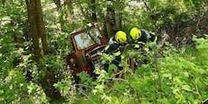 Mann bei Arbeiten von Traktor überrollt