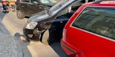 Crash mit vier Autos fordert zwei Verletzte in Gmünd