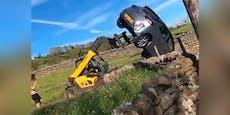 Wut-Bauer rastet aus, demoliert Falschparker das Auto