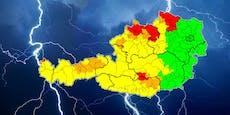 Heftige Hagel-Gewitter in fünf Bundesländern