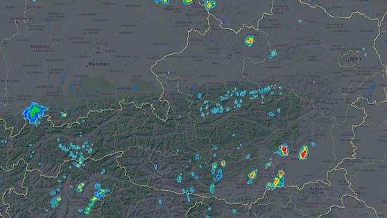 Radarbild von 11:05 Uhr