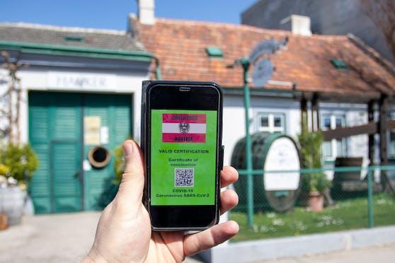 Der Grüne Pass soll den Zutritt zu Lokalen und anderen Einrichtungen in Österreich und der ganzen EU regeln. Symbolfoto.