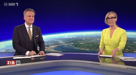 ORF-Moderatoren Tarek Leitner und Nadja Bernhard