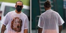 Hamilton trägt in Spielberg Netz-Shirt um 990 Euro