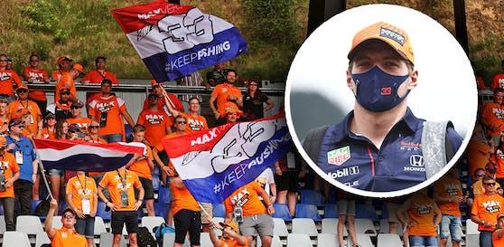 Tausende Niederländer feuern Max Verstappen an.