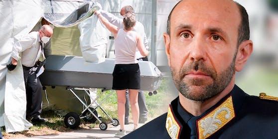 Mordfall Leonie: Generaldirektor für öffentliche Sicherheit Franz Ruf gab bekannt, dass weltweit nach einem vierten Verdächtigen gefahndet wird.