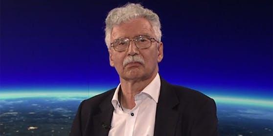 """Eduard Strauss, Verfahrensrichter im BVT-U-Ausschuss, in der ORF-""""ZiB 2""""."""