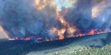 Kanada brennt! Menschen müssen vor Flammen fliehen
