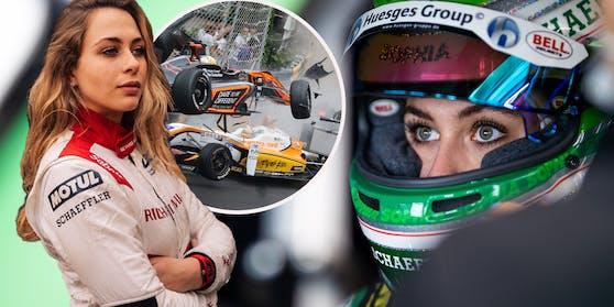 Sophia Flörsch gibt in der DTM Vollgas. Vor drei Jahren schockierte ihr Crash in der Formel 3 die Motorsportwelt.