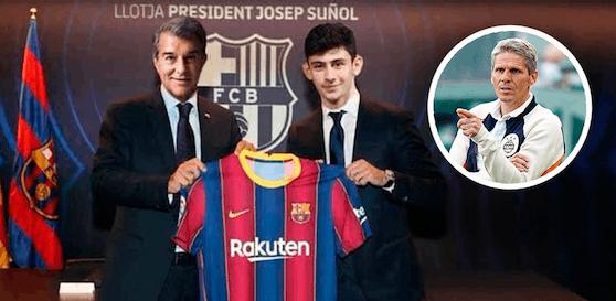 Yusuf Demir beim FC Barcelona.