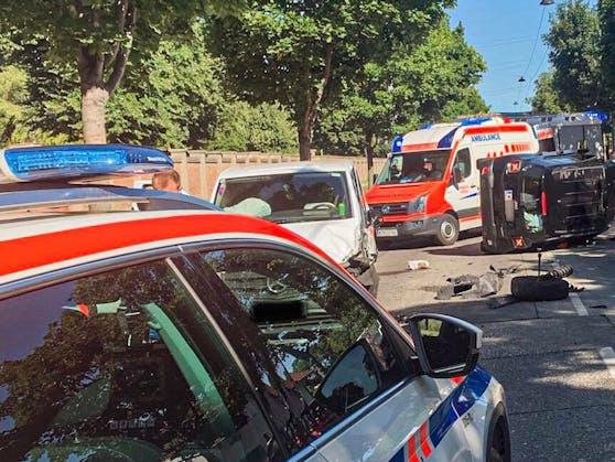 Schwerer Unfall in Wien-Simmering
