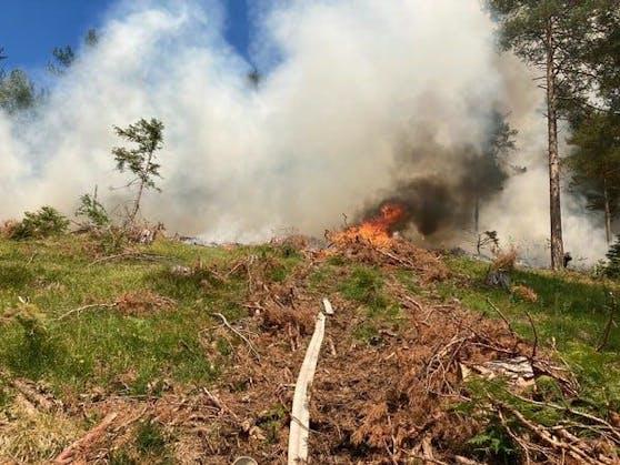 Im Gaupmannsgraben brach ein Brand aus.