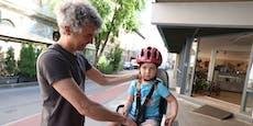 Sicher in der Stadt unterwegs mit Kind und Fahrrad