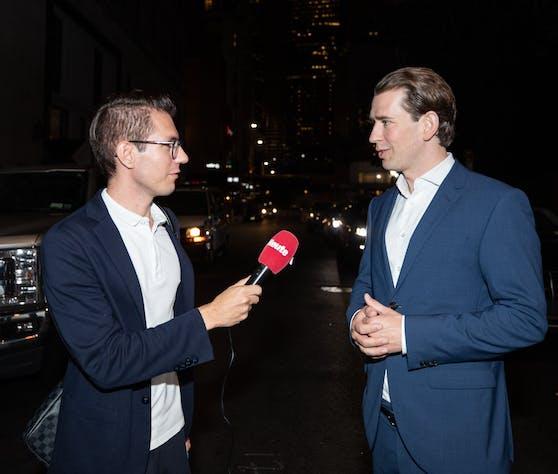Interview in New York: Sebastian Kurz im Gespräch mit Heute.at-Chef Clemens Oistric