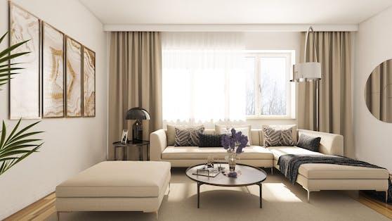 Modernes Wohnzimmer (Symbolbild)