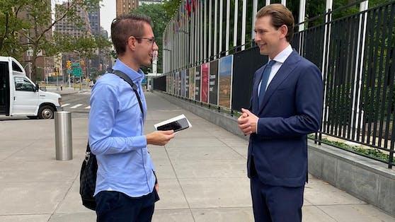 Heute.at-Chefredakteur Clemens Oistric begleitet Bundeskanzler Sebastian Kurz (ÖVP) in New York.
