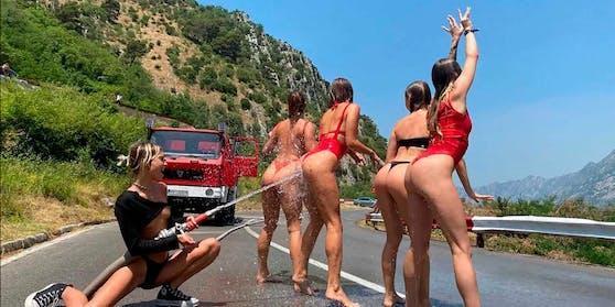 Zumindest hatten sie Bademode an – in Dubai posierten sie nackt.