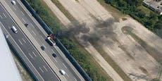 Mächtige Rauchsäule! Lkw auf der A1 in Flammen