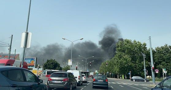 In Wien-Simmering brannte es