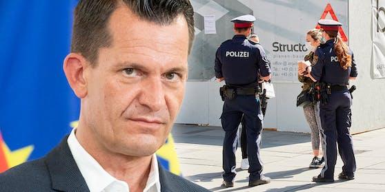 Gesundheitsminister Wolfgang Mückstein gibt der Polizei die Möglichkeit zu Organstrafverfügungen bei 3-G-Verstößen.