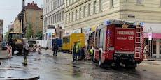 Wasserrohrbruch in Wien sorgt für Stau-Chaos