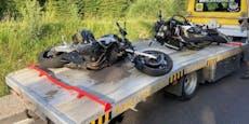Motorräder krachen frontal zusammen, beide Biker tot