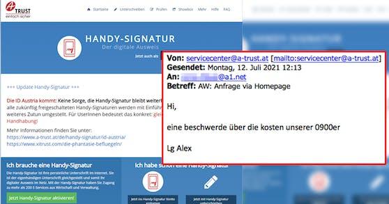 Diese ominöse Mail erhielt eine Wienerin auf ihre Beschwerde.