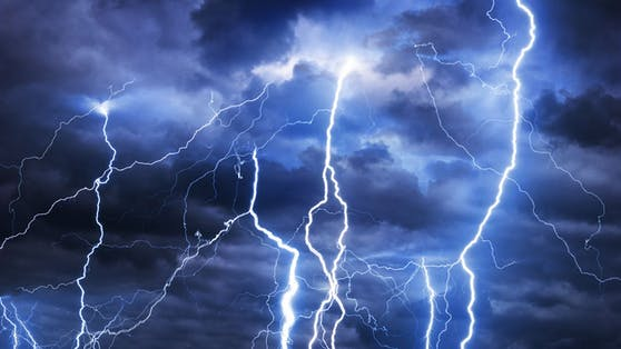 Blitze-Alarm in Österreich.