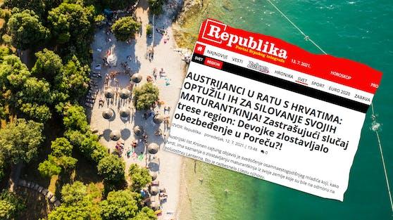 """Serbische Zeitung spricht sogar von """"Kampf""""."""