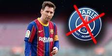 Paris wirft im Poker um Lionel Messi das Handtuch