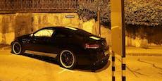 Raser crasht Mercedes AMG nach 175-km/h-Raserei