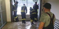 Unwetter! Keller von Ischler Feuerwehrhaus unter Wasser